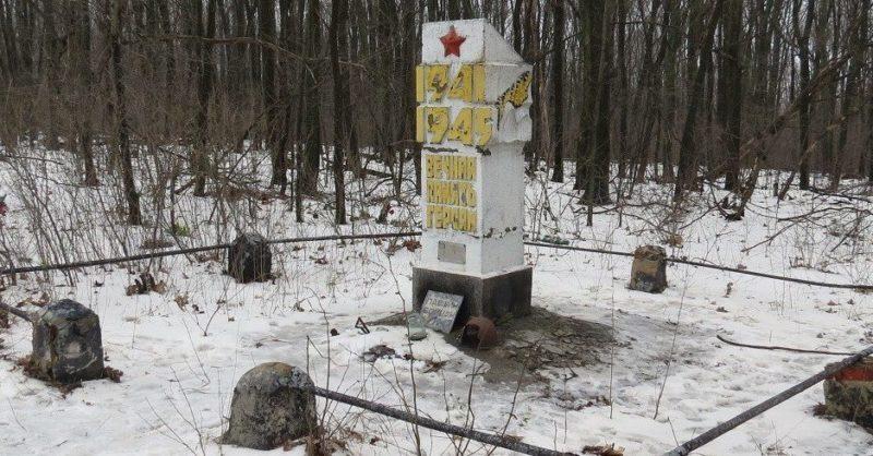 с. Рубежное Волчанского р-на. Памятник неизвестному солдату
