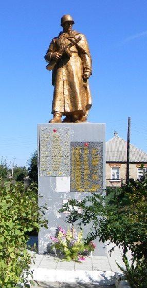 с. Двуречный Кут Дергачевского р-на. Памятник установлен на братской могиле, в которой похоронено 119 воинов, погибших при освобождении села