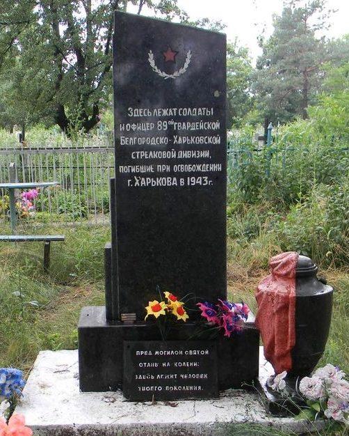 с. Сиряки Дергачевского р-на. Обелиск на сельском кладбище установлен на братской могиле воинов, погибших при освобождении села
