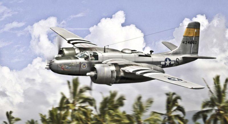 Karidis Antonis. Бомбардировщик Douglas A-26 Invader.
