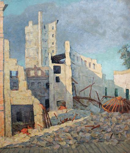 Денисов Владимир. Здесь был цирк. Киев, 1944 г.