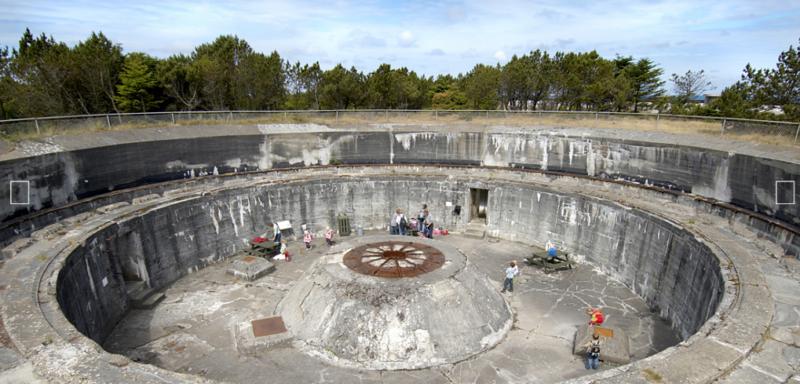 Место установки берегового орудия 38 cm-kanon.