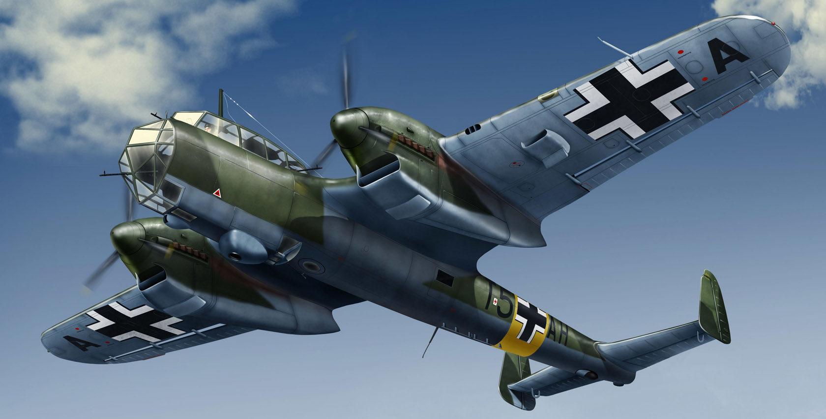 Бут Владимир. Самолет-разведчик Do-215B-4.