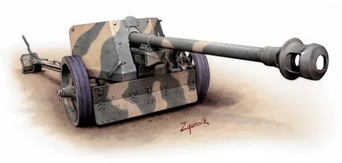 Згонник Дмитрий. Противотанковое орудие Pak-40 Gun.