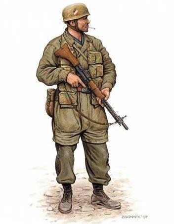 Згонник Дмитрий. Немецкие парашютисты.