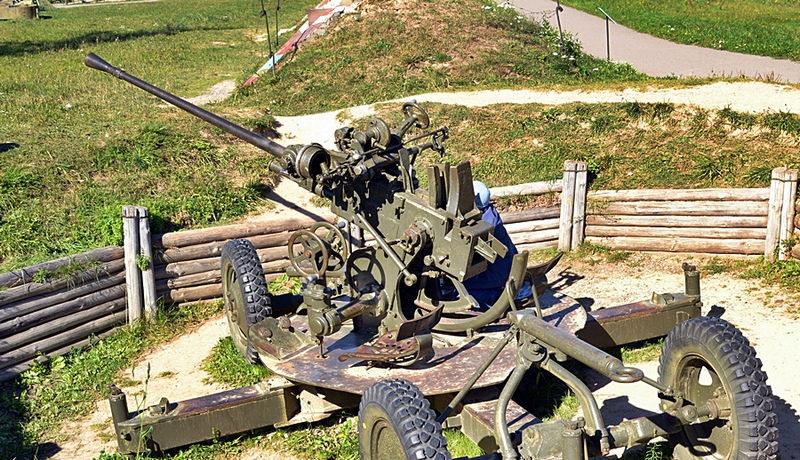 37-мм зенитное орудие.