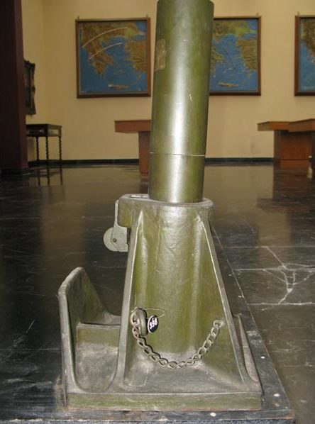 Минометы в музее.