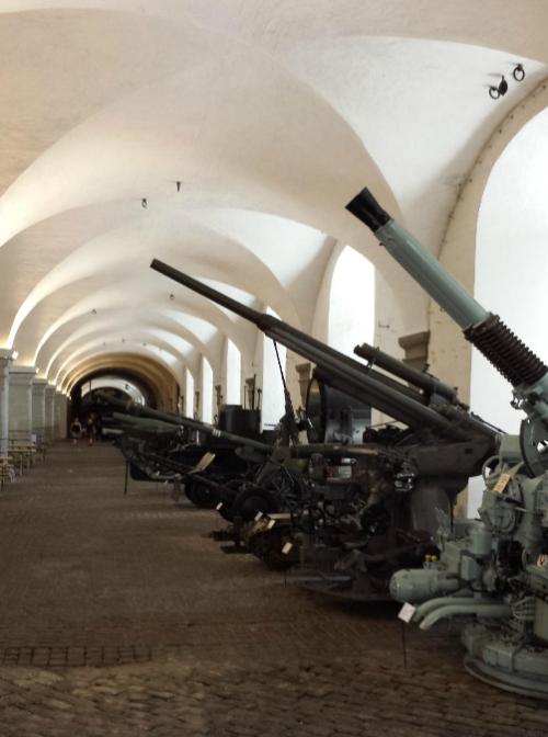 Артиллерийские орудия.