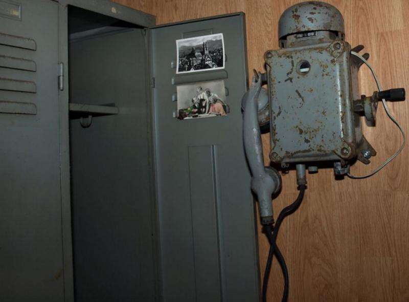 Внутренний интерьер бункера.