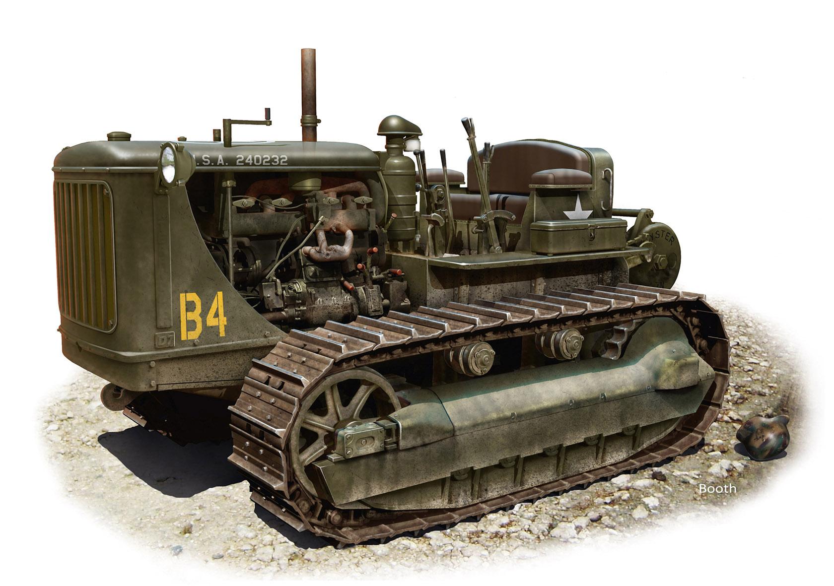 Бут Владимир. Трактор D-7.