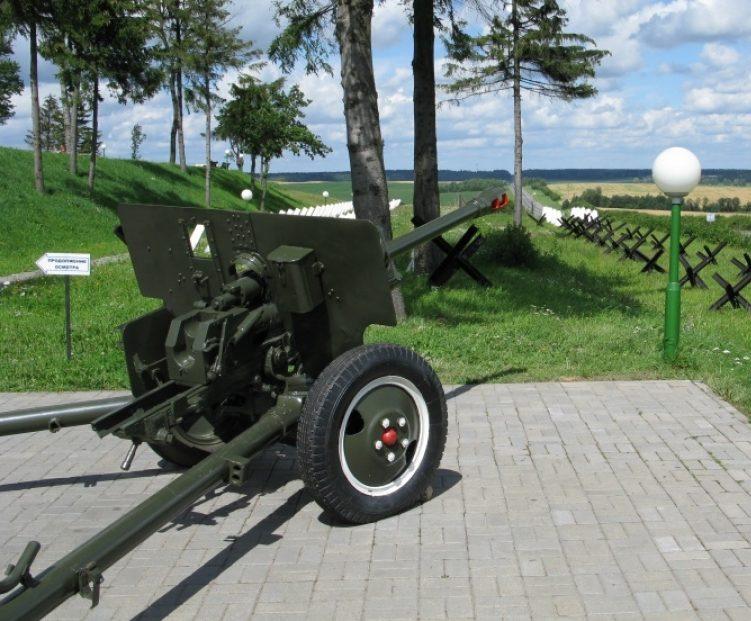 Полевое заполнение и пушка ЗиС-3.