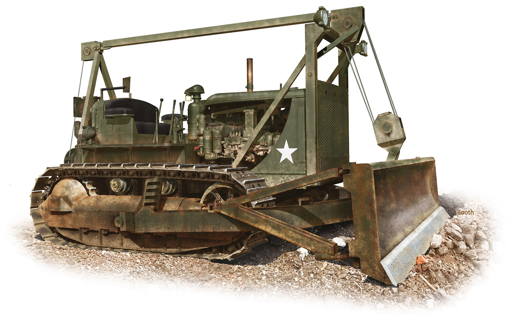 Бут Владимир. Трактор D-7 Bulldozer.