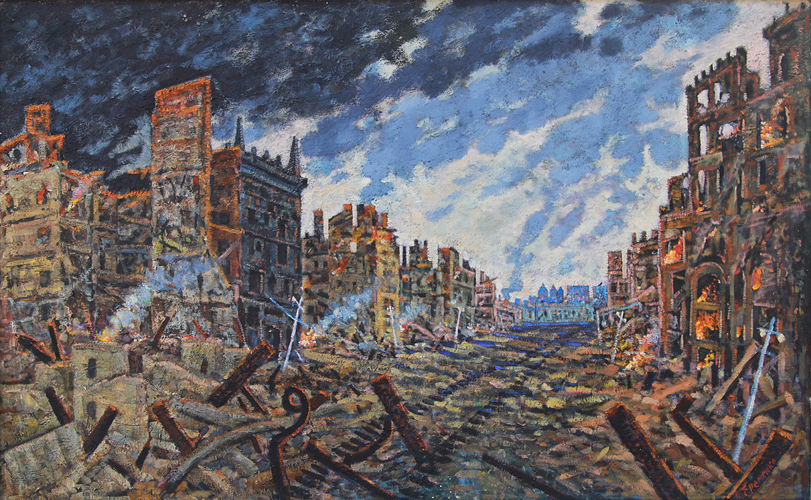 Еременко Павел. Киев. Крещатик 1943.
