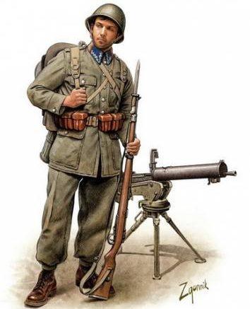 Згонник Дмитрий. Польские пехотинцы.