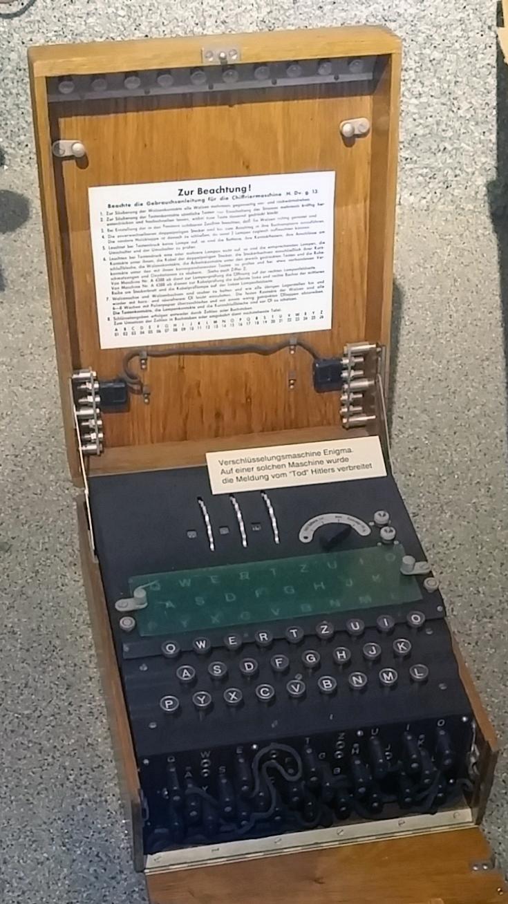 Немецкая шифровальная машина «Enigma».