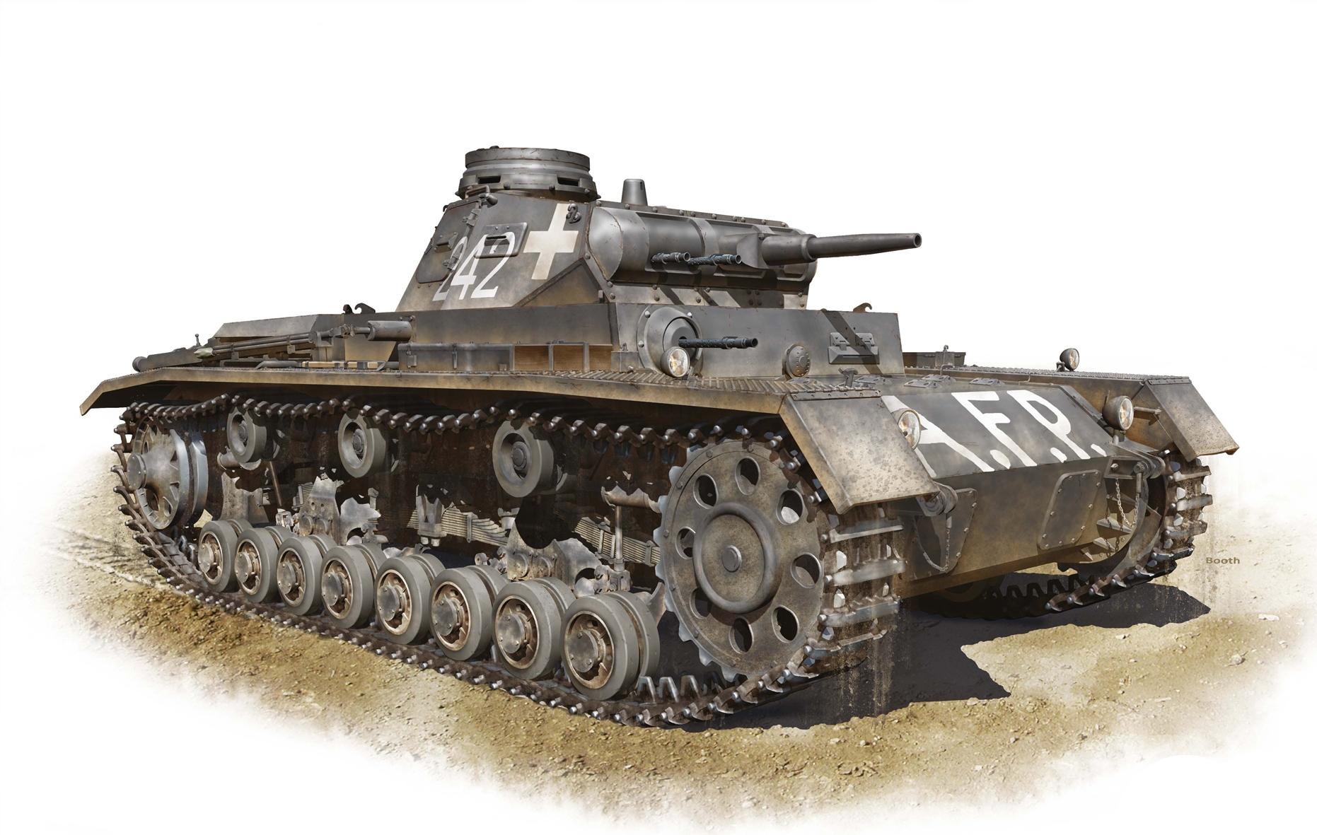 Бут Владимир. Танк Pz. Kpfw. III Ausf. D.
