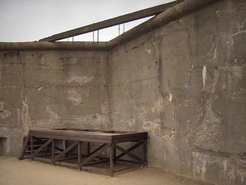 Виселица, построенная немцами.