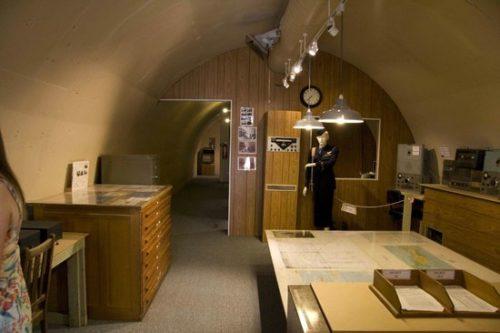 Подземный бункер управления базой летающих лодок.