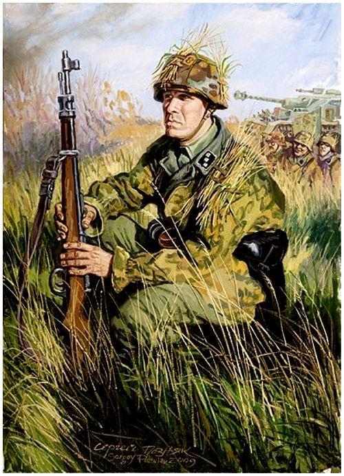 Позняк Сергей. Командир эстонского батальона СС «Narva».