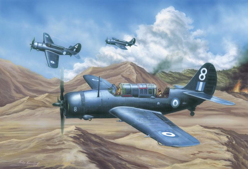 Kavvathias Kostas. Пикирующие бомбардировщики Curtiss SB2C-5.