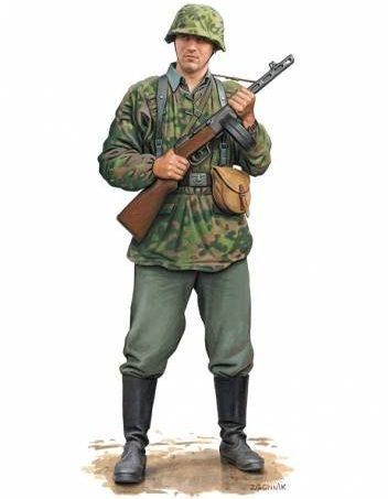 Згонник Дмитрий. Немецкие пехотинцы.