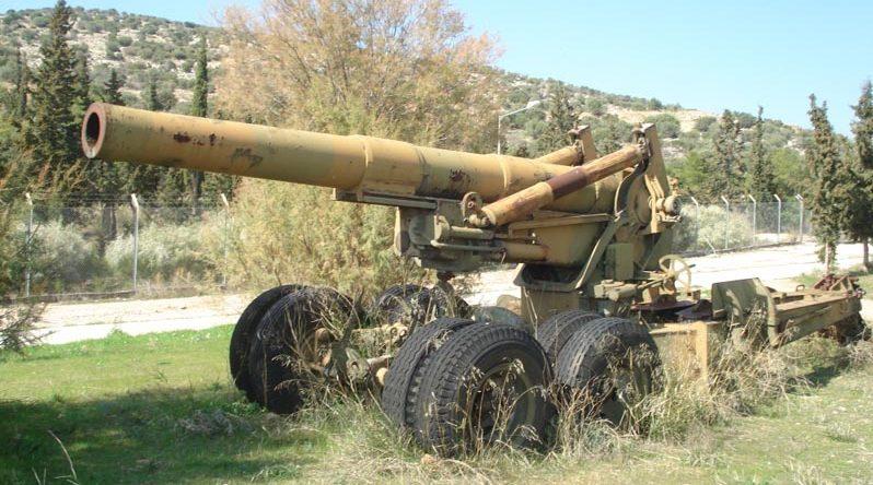 Тяжелое орудие М-115.