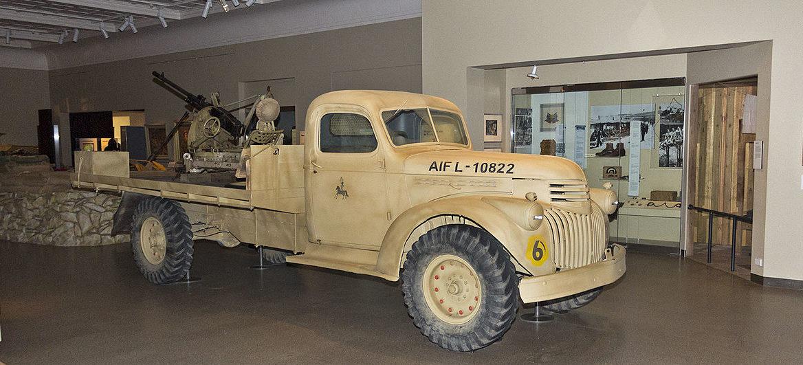 ЗСУ на базе Chevrolet 41/E22 с 20-мм зенитной пушкой.
