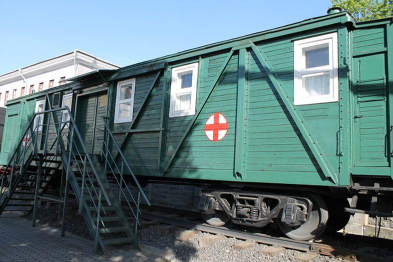 Вагон санитарного поезда.