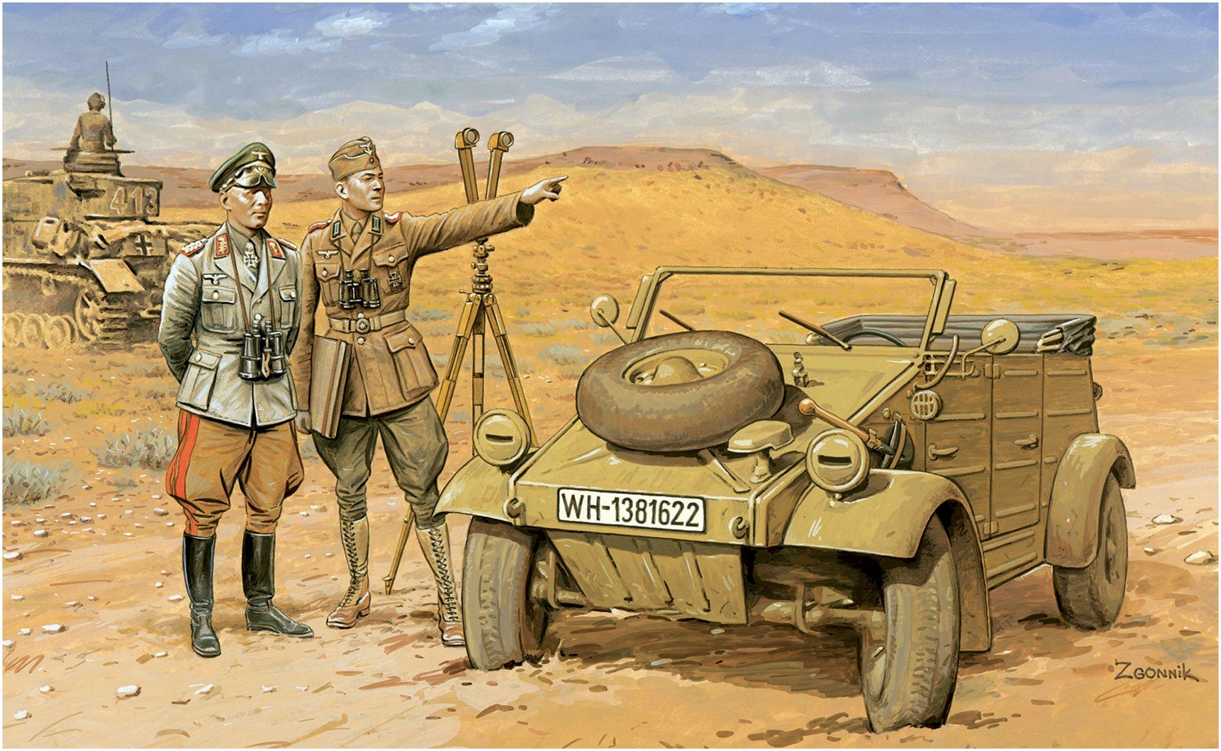Згонник Дмитрий. Роммель в пустыне.