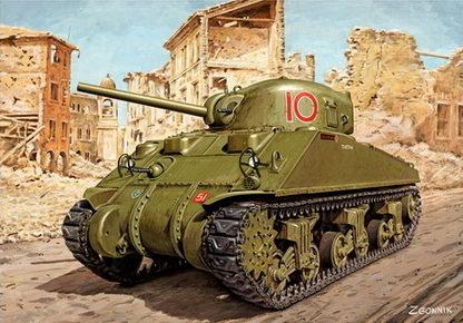 Згонник Дмитрий. Танк Sherman M-4A4.