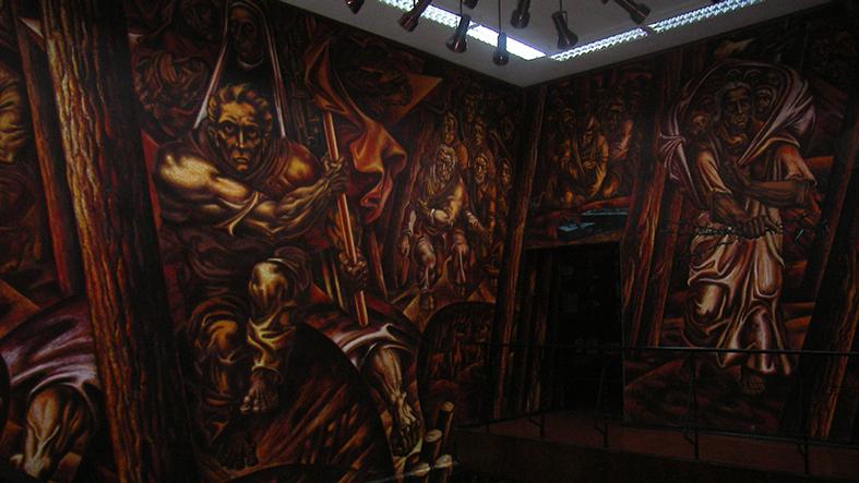 Роспись в фойе музея