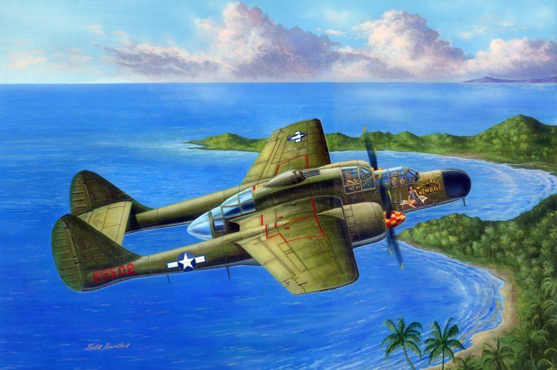 Kavvathias Kostas. Истребитель P-61A Black Widow.