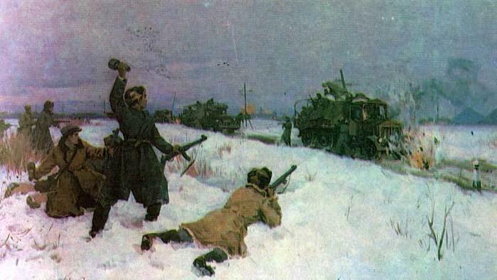 Сулименко П., Пламенецкий А. Разгром автоколонны.