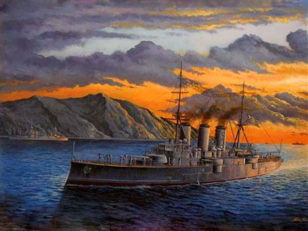 Kavvathias Kostas. Закат в море.