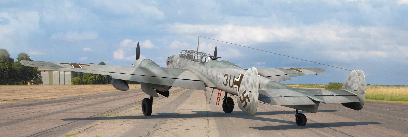 Karidis Antonis. Истребитель Bf-110.