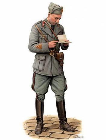 Згонник Дмитрий. Итальянский офицер.
