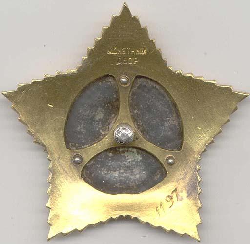 Реверс ордена Суворова II степени на штифте.