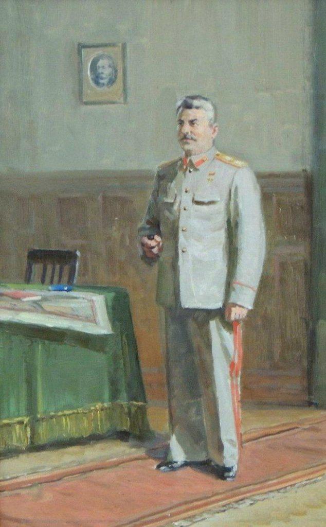 Сулименко Петр. Портрет Сталина.