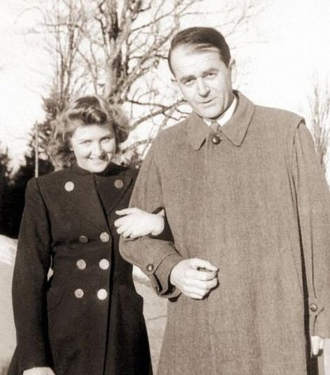 Ева Браун и Альберт Шпеер.
