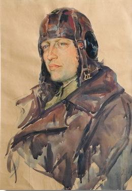 Шовкуненко Алексей. Портрет летчика Калениченко.