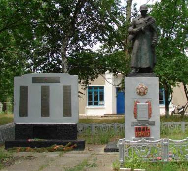 с. Глушковка Купянского р-на. Памятник установлен на братской могиле, в которой похоронено 15 воинов, в т.ч. 7 неизвестных, погибшим в годы войны
