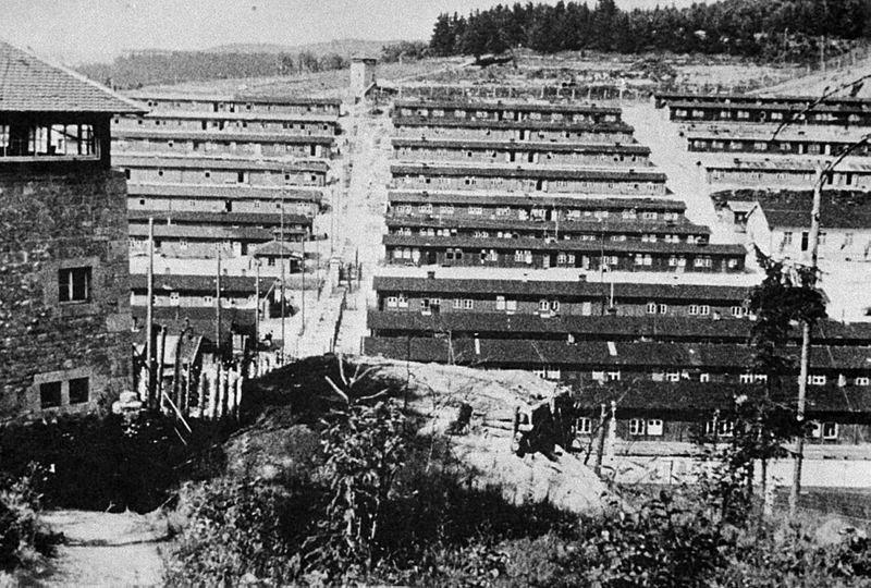 Вид лагеря после освобождения Дании