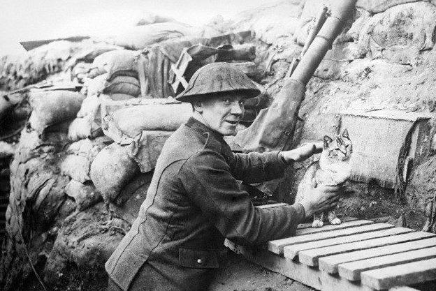В британских окопах. 1918 г.