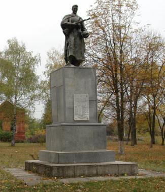с. Петровка Красноградского р-на. Памятник на братской могиле