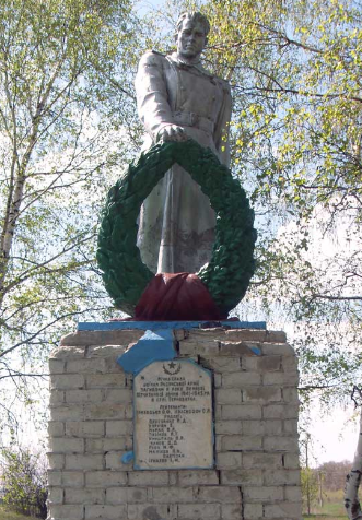 с. Терноватка Сахновщинского р-на. Памятник установлен на братской могиле, в которой похоронено 14 воинов, в т.ч. 5 неизвестных