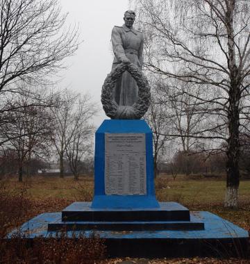 с. Елизаветовка Лозовского р-на. Памятник установлен на братской могиле, в которой похоронено 415 советских воинов, погибших в боях за село