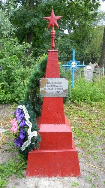 с. Светлое Красноградского р-на. Братская могила неизвестных воинов на сельском кладбище
