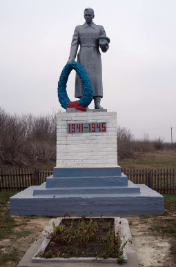 с. Федоровка Лозовского р-на. Памятник на околице села установлен на братской могиле, в которой похоронно погибших в боях за село воинов