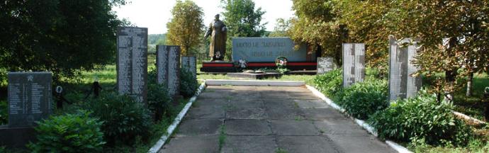 с. Любовка Краснокутского р-на. Общий вид братской могилы