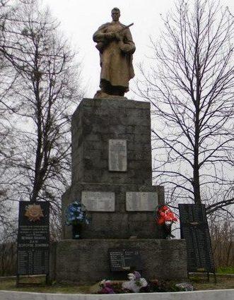 с. Старая Водолага Нововодолажского р-на. Памятник в центре села, установлен на братской могиле, в которой похоронено 242 воина. Здесь же размещен и памятный знак погибшим землякам